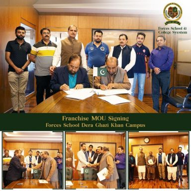 Franchise MOU Signing for Forces School Dera Ghazi Khan Campus