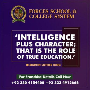 Intelligence plus character