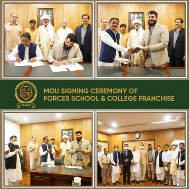 MOU Signing Ceremony of Forces School & College System Franchise