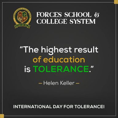 Happy International Day for Tolerance