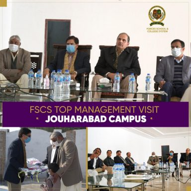 Forces School & College System Top Management's Visit to Jouharabad Campus.