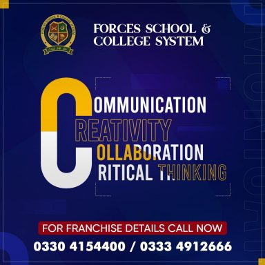 Forces School & College System's 21st century learning program is meant to groom future leaders.