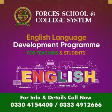 Forces School English Language Development Programme for Teachers & Students