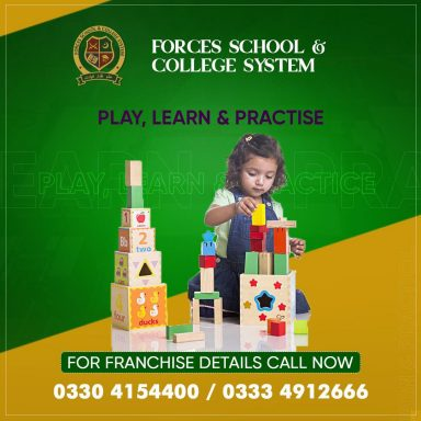 Forces School nurtures the young minds by promoting playing, learning and practice!