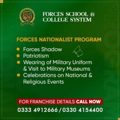 Forces Nationalist Program is focused on instilling patriotism for effective nation-building