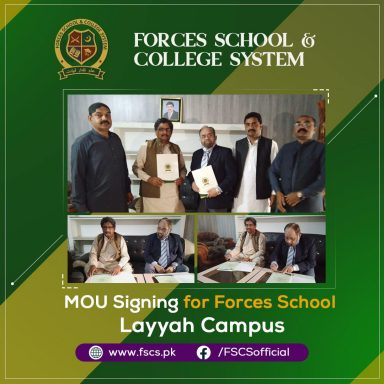 MOU Signing for Forces School Layyah Campus!