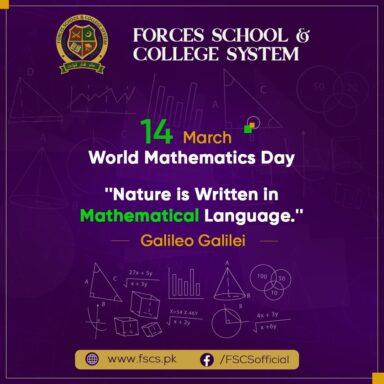 World Mathematics Day - 'Nature is written in mathematical language', Galileo Galilei