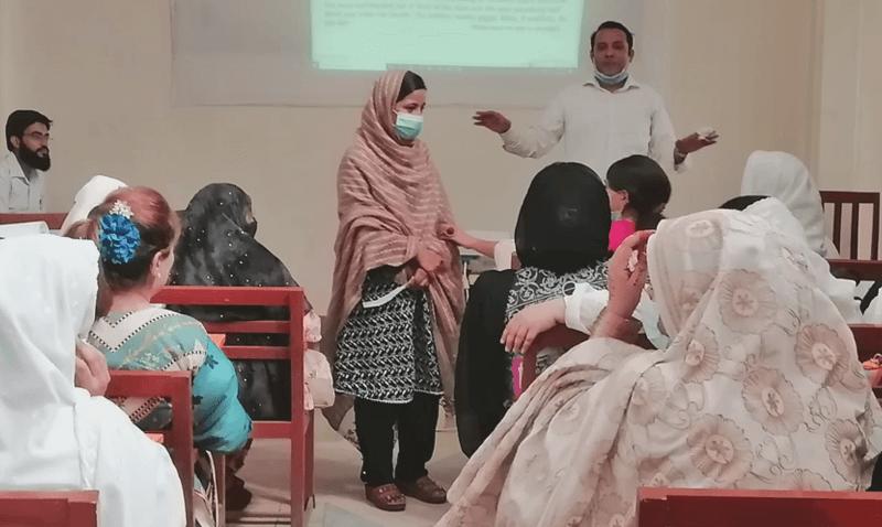 Training teachers at Shahibagh Campus