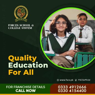 Quality education for all.