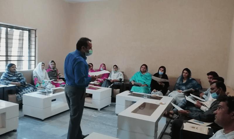 Training teachers at FSCS Jauharabad Campus